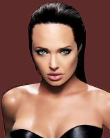 Angelina Jolie color by miguelangelh