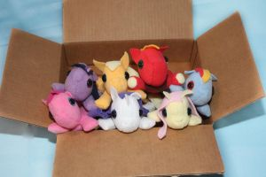 MLP FIM lil Beanie Babies by bluepaws21
