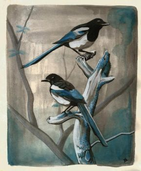Magpies by StoneTheCrow87