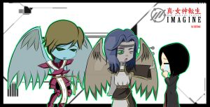 Uriel and Dominion by shin megami tensei imagine by LowRankRaccoon969