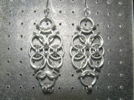 Chainmaille Earring 49 by Des804