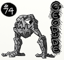 Geodude the Monster by The-End-Inc