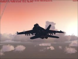 F-18 Sunset by Weasel102