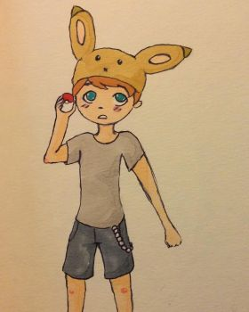 Eevee trainer Todd wants to fight! by intr00verted