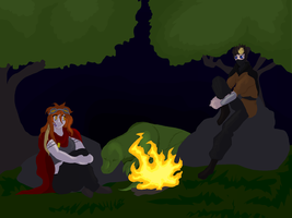 Friends 'round the Fire: Yogscast Fanart by Wolfiewarrior
