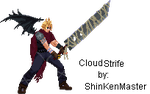 Cloud Strife winged Sprite by shinkenmaster