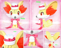 Serea's Fennekin: Lifesize plush + accessories by PinkuArt