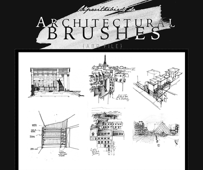 +Architectural Brushes. by Upwithebirds