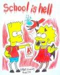 The Simpsons : School is hell by komi114