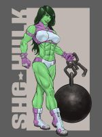 She Hulk by T-Turner