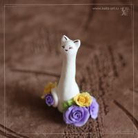 Rose cats : violet by Keila-the-fawncat