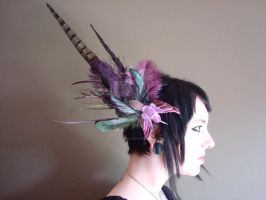 Custom Purple Fascinator by blasphemina