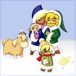Link's Family - Winter Fun by BeagleTsuin