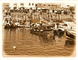 sepia harbour by awjay