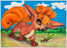 Slyly Vulpix by SSsilver-c
