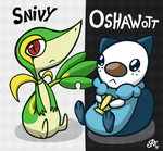 Snivy and Fatty by Rickz0r