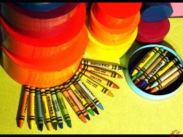 Pieces of crayons by alliserdem