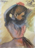 Degas - 'Girl arranging hair' by Annashipway