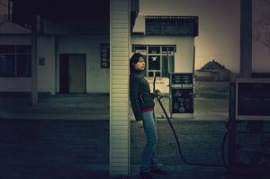 gas station by LolaArtland