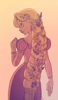 Rapunzel Sketch by MagicalMoments16