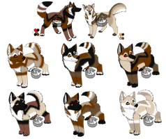 NS Litter 2 CLOSED by WolfbanesAdopts