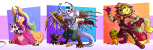COMM - A Gang of Neopets by Turquoisephoenix