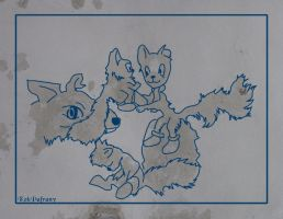 Squirrel family by KekPafrany