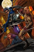 NIghtwing Full color by JUANCAQUE