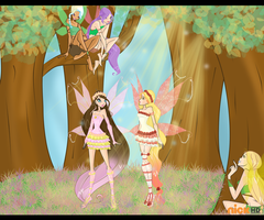 MagicClub s3: The Forbidden Forest by becky0220