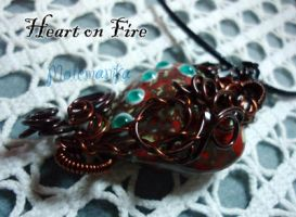 Heart on Fire pendant by motemanikabeads