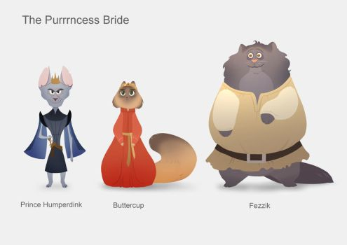 The Purrrncess Bride lineup by taralynna
