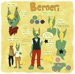 Berneri - reference sheet (GA) by Jeniak