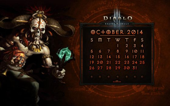 Calendar #5: October 2014 by Holyknight3000