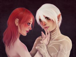 AT: Emeline and Fenris by myks0