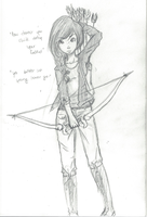 .:Katniss Sketch:. by Orthgirl123