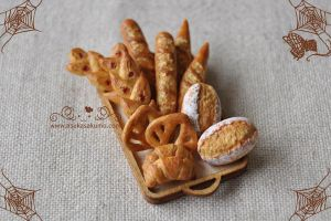 Scale 1:12 Miniature Assorted Bread by asuka-sakumo