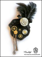 Steampunk University Brooch by BaziKotek