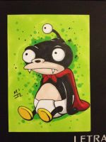 Nibbler sketch card by MikimusPrime
