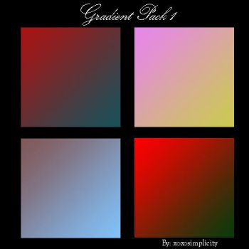 Gradient Pack 1 by xoxosimplicity