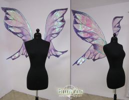 Large Purple Fairy Wings by Lillyxandra