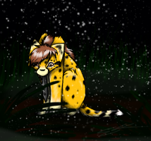Bogi in the Snow by Feline-Basilisk