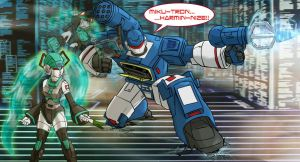MikuTron and Soundwave by ScoobyKun