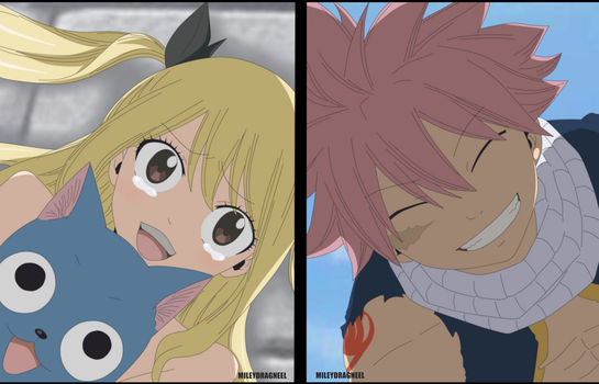 Lucy, Happy and Natsu - Chapter 544 by LucyHeartfiliaR