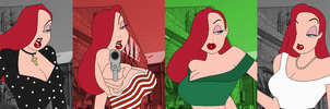 Jessica Rabbit Color Spectrum by SelenaEde