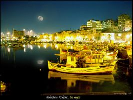 Heraklion by night by makrivag