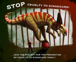 Stop Cruelty to Dinosaurs by Hide1976