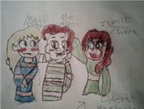 Us as the Undertale trio by Coreyinthehouse