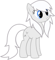 New Ponysona White Fox by Cursed-Grimdark