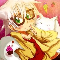 Samuel Lee Evans and Kyubey: Desserts! by LiizEsparza-Chan