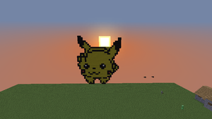 Minecraft Pikachu by MyLoveForYouEternity